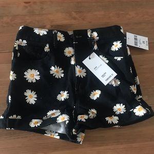Forever 21 High Waisted Denim Sunflower Shorts